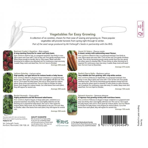 RHS Vegetables For Easy Growing