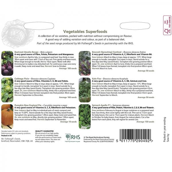 RHS Superfood Vegetables
