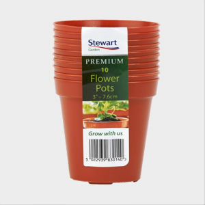 "Flower Pot (Multi-10 Pk) 7.6cm (3"") Terracotta"