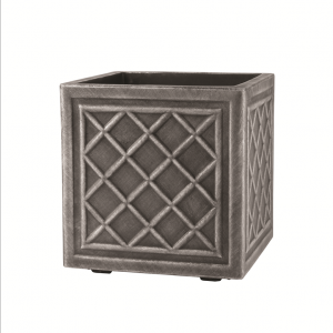Square Lead Effect Planter 32x32cm Pewter