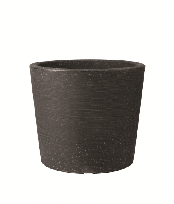 Verese Low Planter 40x35cm Granite