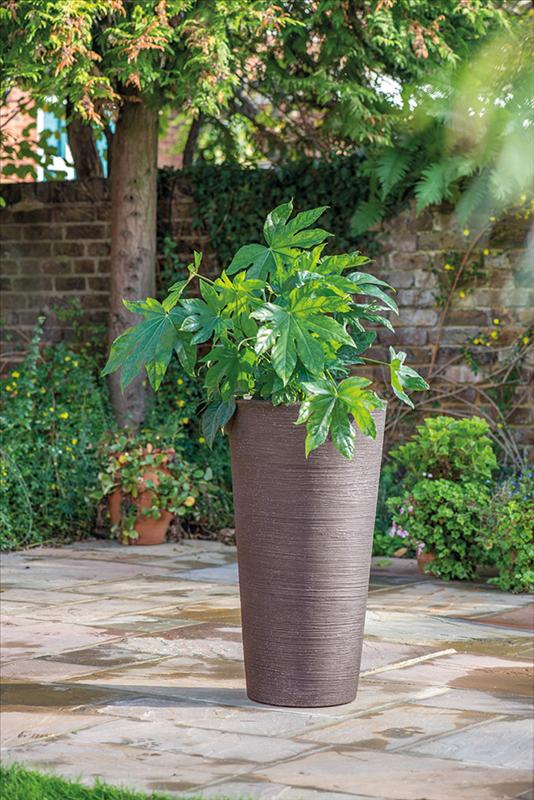 Varese Tall Vase 40x75cm Dark Brown