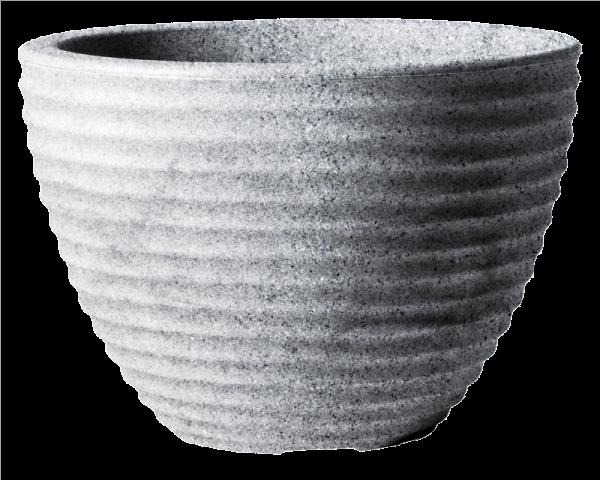Low Honey Pot 37cm Alpine Grey