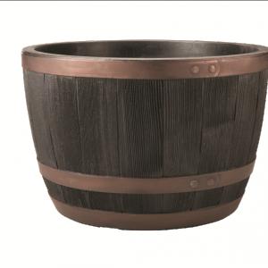 Blenheim Half Barrel 61cm Copper/Black