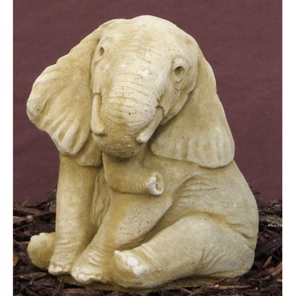 Elephant Down Garden Ornament