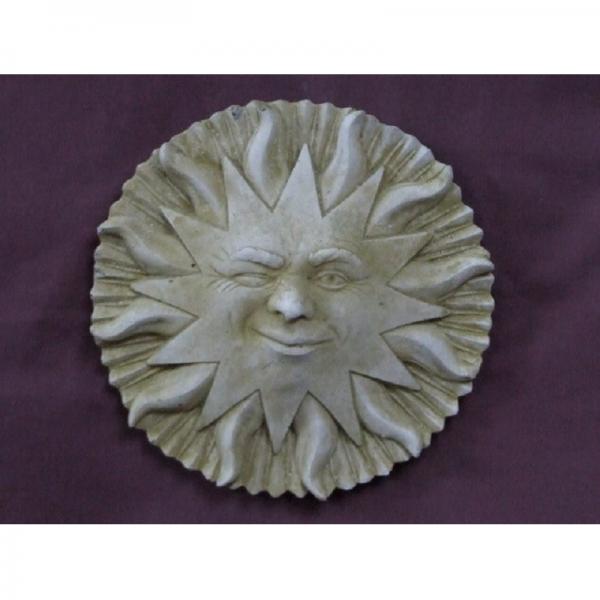 Winking Sun Face Plaque Garden Ornament