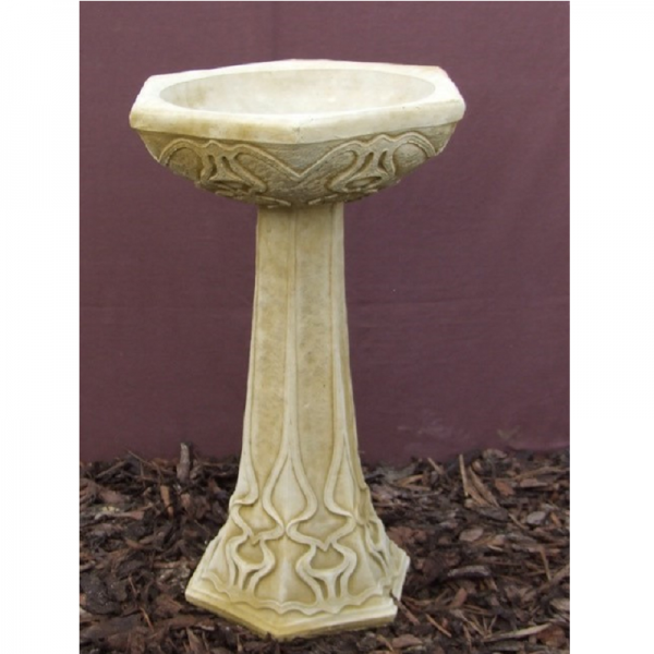 Art Deco Birdbath Garden Ornament