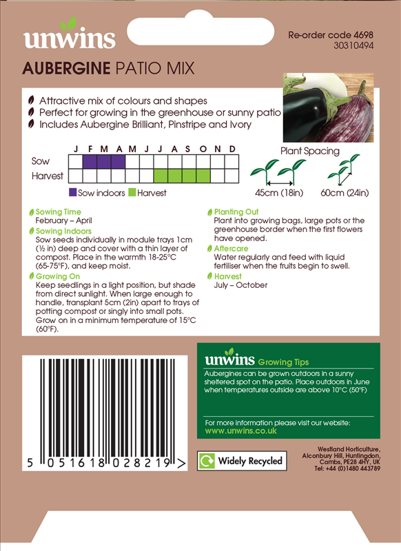 Aubergine Patio Mix
