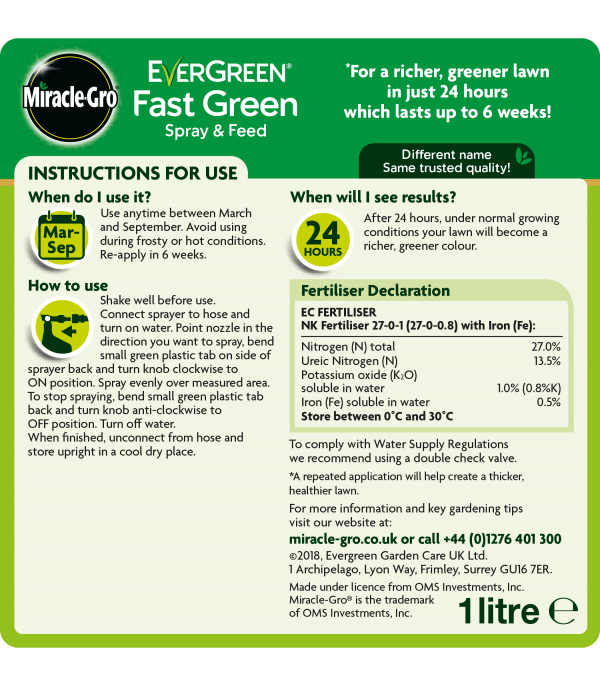 Evergreen® Spray & Feed 1L
