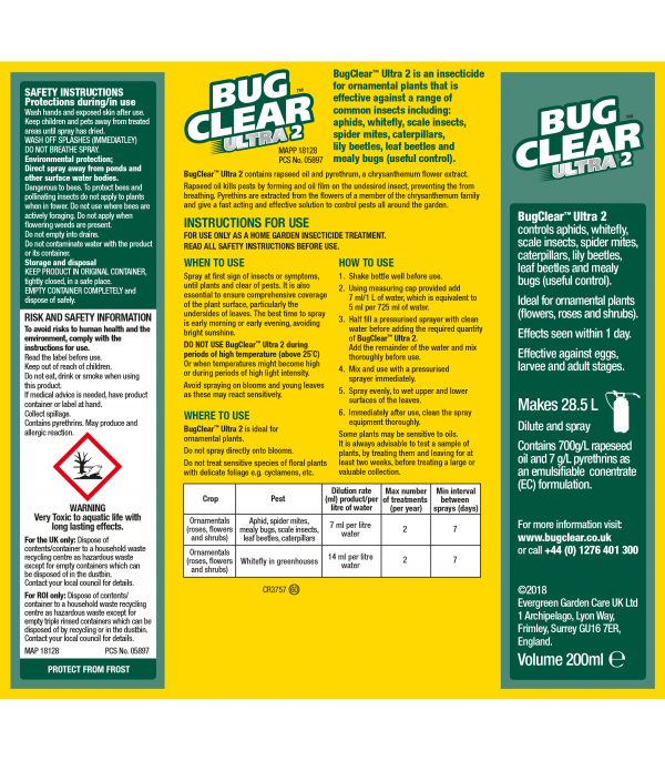 Bugclear Ultra 2 Concentrate 200ml