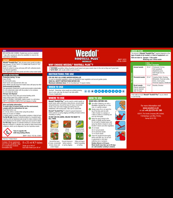 Weedol Rootkill Plus Tubes x6 +2