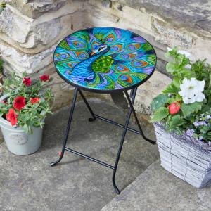 Peacock Glass Table