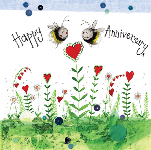 Happy Anniversary Bees Card