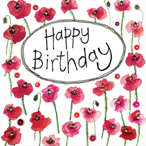 Birthday Poppies Card