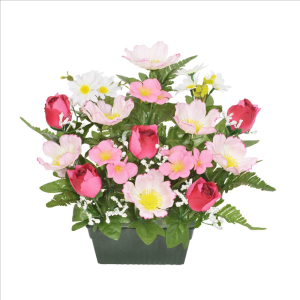 Pink Rosebud Blossom Trough
