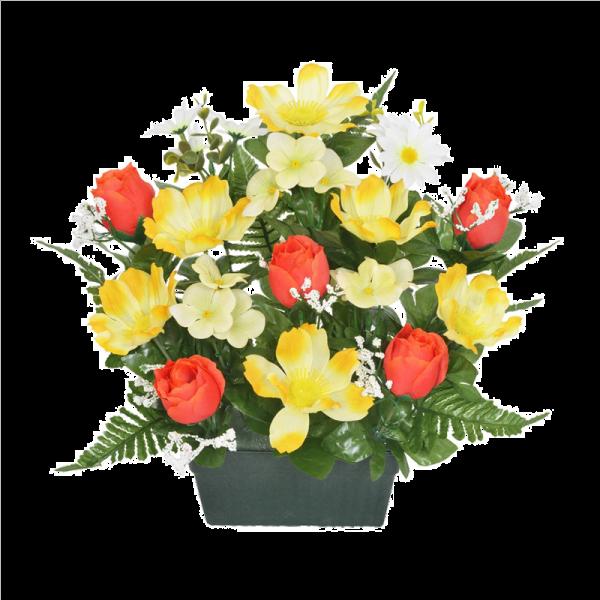 Yellow Rosebud Blossom Trough