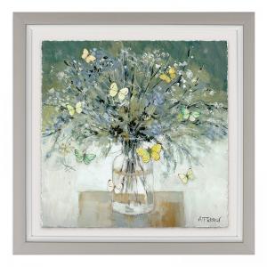 Melody Butterfly Vase Print