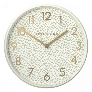 Olive Chevron Clock