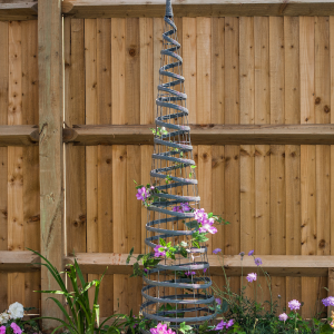 Faux Rattan Obelisk - Slate