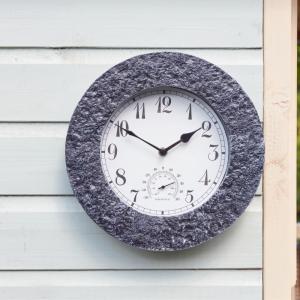 "Stonegate Granite Clock 12"""