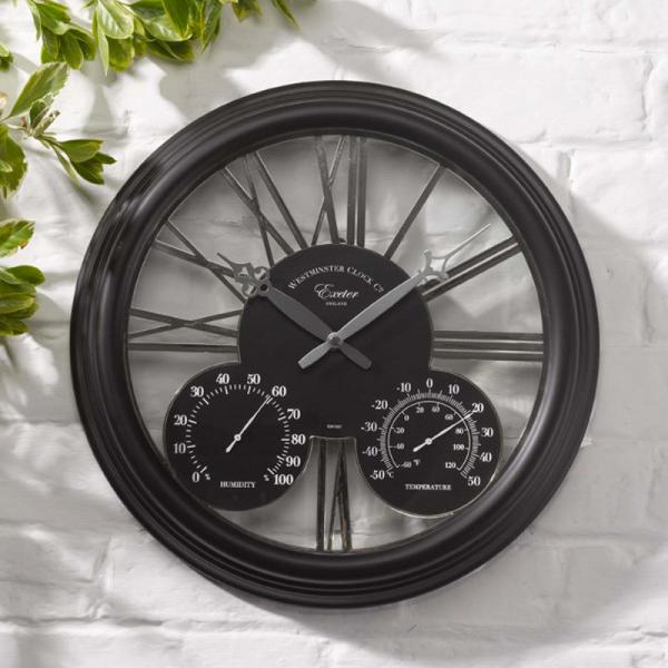 "Exeter Black Clock 15"""