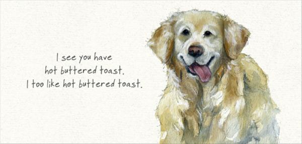 Retriever Toast Card