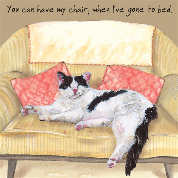 Chair Bed Card