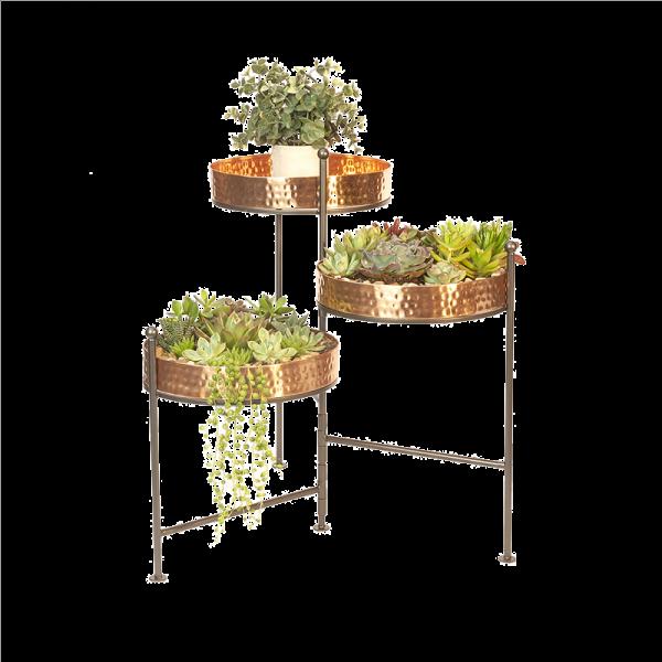 3-Tier Copper Plant Stand