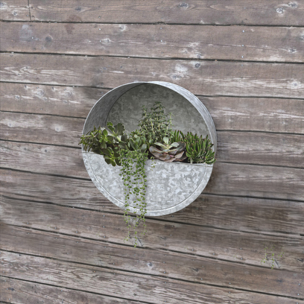 Round Wall Planter