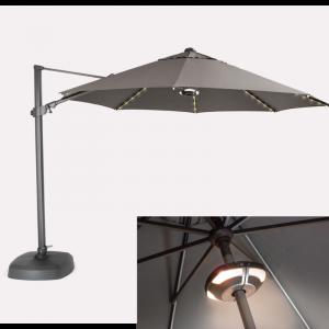 Kettler Free Arm LED Parasol 3.3m with speaker