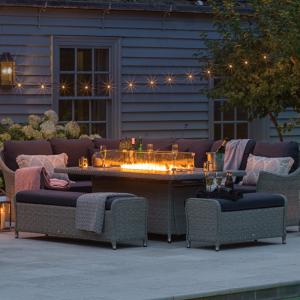Bramblecrest Monterey Firepit Rectangle Sofa Set