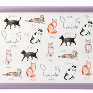 Pastel pets - Cat Laptray