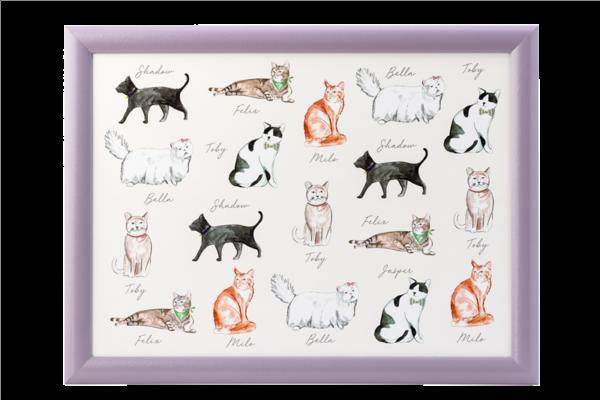 Pastel pets - Cat Laptray