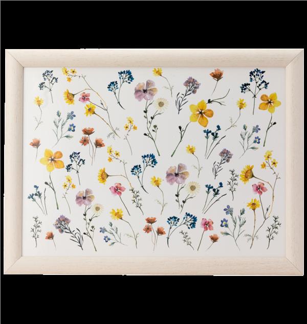 Pressed flowers Lap Tray