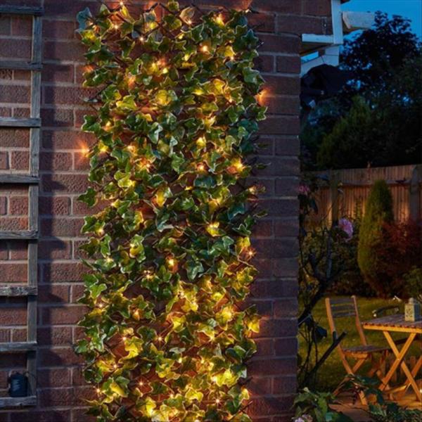 Solar In-Lit Ivy Trellis 75 LED