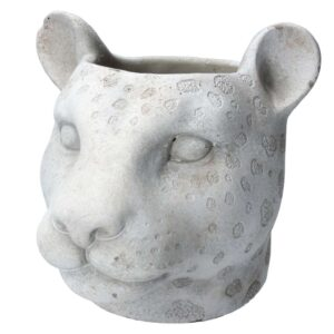 Stone Effect Leopard Pot Cover
