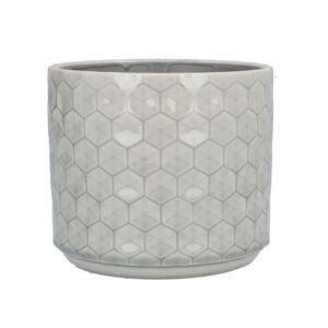 Grey Honeycomb Ceramic Pot