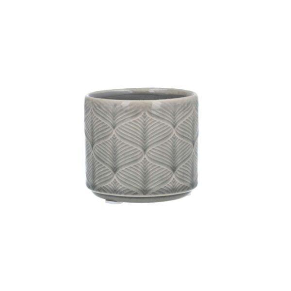 Grey Wavy Ceramic Mini Pot Cover