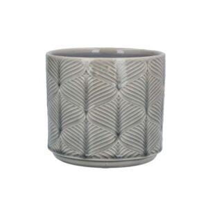 Grey Wavy Ceramic Pot  Sml