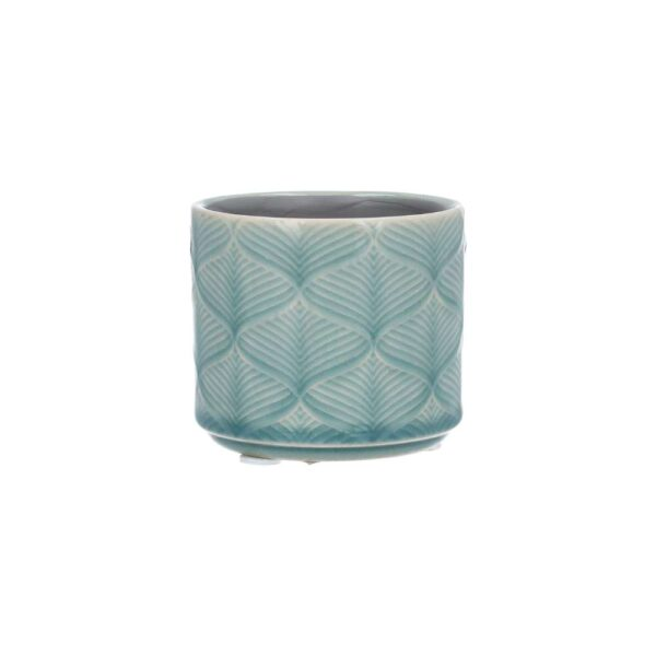 Blue Wavy Ceramic Mini Pot Cover