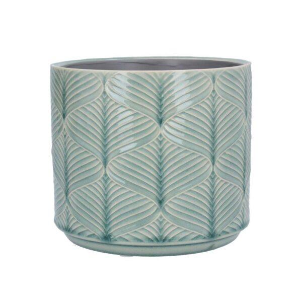 Blue Wavy Ceramic Pot