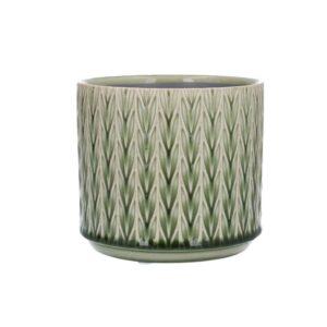 Green Staghorn Ceramic Pot