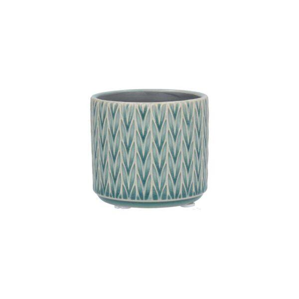 Blue Staghorn Ceramic Mini Pot