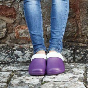 Comfi Fleece Clog – Lilac 4