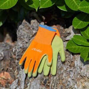 Junior Diggers Gloves - Orange & Green