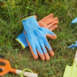 Junior Diggers Gloves - Orange & Blue